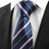 Lazo de la boda Corbata Personalizada Corbata del lazo de los hombres de JACQUARD del azul marino Corbata Personalizada Regalo # 0009 del viaje de negocio