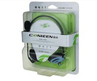 Wholesale Canleen united CH head hanging ear type laptop headset microphone headset with microphone Heavy bass earplugs ear headphones