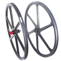 axle sets - 29er six spokes carbon wheelset spokes Mtb carbon wheels inch carbon wheelset mm width mm depth quick release or through axle