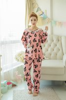 Wholesale The spring and autumn long sleeved cotton dress pregnant month pregnant women clothing Home Furnishing Mickey head suckling pajamas16133