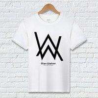 audio t shirts - Alan Walker Short Sleeved T Shirt Men Loose Casual t shirt tee Audio DJ Faded T Shirts Street Hip hop TShirts Streetwear Unisex shirts