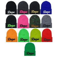 Wholesale Winter Beanies Men Knit Women Hip Hop Hot Hats Knitted Caps for Women Hats DOPE D Embroidery Beanie Skull Caps Valentine Gift DHL