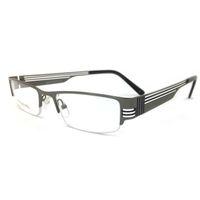 alloy rims - Laurafairy Metal Optical Eyeglasses Rectangle Prescription Spectacles Half Rim Men Fashion Eyewear Half Rim Vintage Retro Rock Style RM0015
