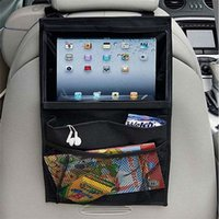 auto organizers - Baby Kids Car Seat iPad Hanging Bag Auto Back Car Seat Organizer Holder Multi Pocket Travel Storage Hanging DHL free