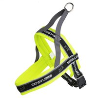 sport Harnesses green Free Shipping! Wholesale Big Pet Dog Back Lift Harness Soft Reflective Outdoor Sport No-Pull Padded Mesh Harness Vest for Pet Application