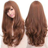 Wholesale 2016 The new girl non mainstream South Korea curly wig points curly hair in large waves