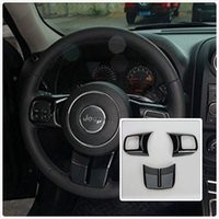 Wholesale Black ABS Interior Decoration Trim Kit with Logo For Jeep Wrangler Cab Door For Steering Wheel
