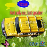 Wholesale Cheapest hot sale USB big FM Radio car speakers Portable Car model Mp3 MP5 speaker With TF card