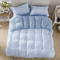 bedspreads quilts - Adult bedding set Brief style stripe duvet cover set bed linen bedclothes or set bed cotton set quilt cover bedspread muji
