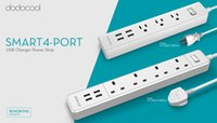 Wholesale dodocool Smart AC Outlet Surge Protector Power Strip ft Cord with V A Port USB Charger for Smartphones Tablets US Plug