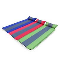 air foam pillow - 3 Color Outdoor Camping Travelling Automatic Inflatable Cushion Air Mattress With Pillow Self inflating Mat Car Sleeping Bed Pad