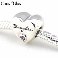 bea silver jewelry - 925 Sterling Silver Jewelry DAUGHTER S LOVE CZ Beads DIY Fine Jewelry Fit Pandora Original Charms Bracelets making Diy bea