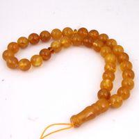 al por mayor rosario indio-Imitación De La India Amber Beads Rosario Moda Unisex Encantos Cadena De La Cadena Ámbar Joyas De Oración Joyas Collar / Pulsera