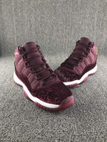 b patterns - New Retro Velvet Heiress Flower Pattern Men Basketball Shoes s Velvet Wine Red Night Maroon Sports Sneakers With Shoes Box