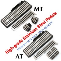 Wholesale Stainless Steel Manual Automatic Transmission AT MT Pedal Pads Foot Rest for VW Golf GTI MK6 Jetta MK5 Scirocco Tiguan