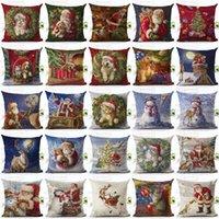Wholesale Christmas Xmas Santa Sofa Car Throw Cushion Pillow Cover Case Home Decor Gifts Home Decorative Pillowcase