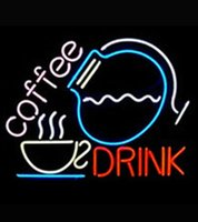 advertising coffee cups - Coffee Drink Cup Pot Neon Sign Handmade Custom Real Glass Tube Store Shop Clubs Pub Bar Party Advertised Display Neon Signs quot X14 quot