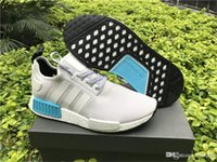 10 Channels other other AD NMD R1 Runner Nomad Boost White Bright Cyan Blue s80207 With Original Box
