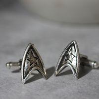 Wholesale Star Trek inspired jewelry Engineering Security Command Badge Science Badge Medical Badge jewelry Cufflinks charm man gift