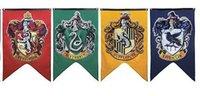 Wholesale Harry Potter Banner Flag Gryffindor Hufflepuff Slytherin Ravenclaw Flag Hogwarts College Flag Harry Potter House Wall x125cm F355