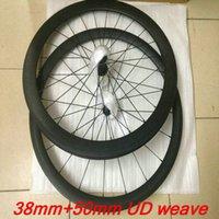 al por mayor ruedas de bicicleta de ruta de bricolaje-2017 el wheelset negro de la bicicleta del carbón del camino de UD de la rueda de las ruedas 50mm del carbón de la bicicleta de la venta OEM / DIY blanco / gris / negro UD / 3K que completa un ciclo wheels + hubs originales