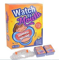 Wholesale 2016 Watch Ya Mouth For Funny Party Game Joke Funny Toys Family Party Christmas Gift Card