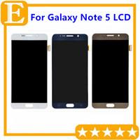 Écran LCD d'origine pour Samsung Galaxy Note 5 Ecran LCD Moniteur de numériseur à écran tactile Note 5 N9200 N920F N920P VS N920T N920V N920A Remplacement