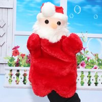 Wholesale New plush toys hand puppet doll nursery toys Santa Claus Christmas gift