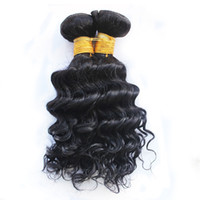 Wholesale Brazilian Deep Wave Hair Weft Short Curly Bob Style Deep Curly Hair Extensions g pc Unprocessed Human Hair Weave Bundles