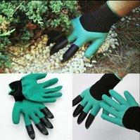 Дешевый Садоводство сад-Садовые джинсовые перчатки с кончиками пальцев Зеленая копа и безопасные садовые садовые ножницы Садовые водонепроницаемые копающие перчатки 120 пар OOA1379