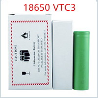 Wholesale High quality batteries lithium rechargeable battery VTC3 battery for e cigarette mod e cig V mAh DHL Shipping