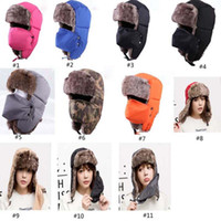 cycling cap - Christmas Hats Korean Winter Warm Fleece Ski Caps Protected Ear Mask Caps Snowboard Cap For Ride Cycling Rabbit Fur Caps Santa XL A64
