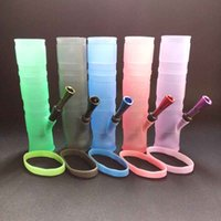 Wholesale Portable Hookah Silicone Water Pipes for Dry Herb Unbreakable Water Percolator Glass Bongs Smoking Oil Concentrate Metal Plastic Pipes