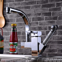 Wholesale Newly design classic pull out kitchen sink faucet with single hole kitchen mixer tap of solid brass bathroom basin sink faucet