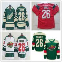 Wholesale Minnesota Wild Ice Hockey Jerseys Thomas Vanek Jersey White Black Red Stitched Logos Stadium Size S XL