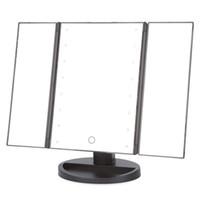 adjustable toilet frame - Portable Cosmetic Mirror Folding Table LEDs Lamp Luminous Adjustable Tabletop Countertop Light Mirror Toilet