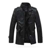 Men basics acrylic paint - Winter Men Black Leather Jacket Long Brand Leather Jacket Suede Fur Coat Casual Bomber Jacket Military Men Basic Coat