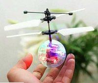 Wholesale Toys RC Helicopter Flying Induction LED Noctilucent Ball Quadcopter Drone Sensor Suspension Remote Control Aircraft Kids Gift LLFA