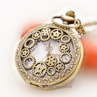 antique steel wheels - Vine Hollow Gear Wheel Steampunk Pocket Watch
