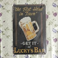 best in town - The best head in town get it at lucky s bar Vintage Decorative Craft Tin Sign Retro Metal Painting Antique Poster Bar Pub Signs Wall Art