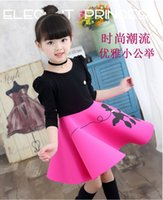 Wholesale Kids girls dress autumn and winter new baby girl with velvet children princess skirt thickened in winter