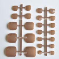 artificial toenails tips - A Colorful Summer Carnival Candy Purple Artificial False Toes Toenails Color Khaki Brown P57