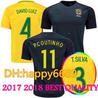 Soccer Men Short new Brazil jersey 2017 2018 Soccer jersey Camisa de  futebol Brasil Neymar Oscar ade058a55