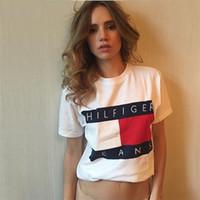 Wholesale Summer New Ladies T Shirts Letter Print Short Sleeve Fashion Brand T Shirt Women T shirt Tops Tee