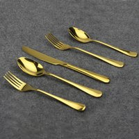 Wholesale Aoosy High Quality Stainless Steel Gold Plated Flatware Fine Polishing Knife fork spoon Cutlery Set