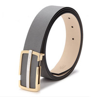 Wholesale 2016 best quality Cowskin belt Advanced stainless steel buckle IMPORTED COW LEATHER Men s belt fashion smooth buckle