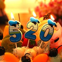 Wholesale Number Candle Party Candle Happy Birthday Candle cm height Blue
