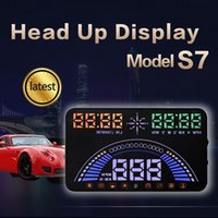 Wholesale 2017 New Design S7 HUD Head Up Display For Windshied Projector Car styling Accessories Automobile Digital Speedometer for Car