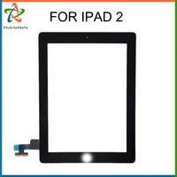 Para el reemplazo de la asamblea del digitizador del panel de cristal de la pantalla táctil del iPad 2 sin el cable de la flexión Envío libre para iPad2