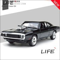 Wholesale The Fast And The Furious Dodge Charger Alloy Cars Models Kids Toys Four Color Metal Classical Cars